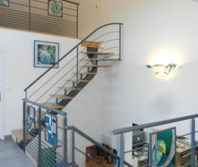 Détails serrurerie, escaliers - Architecte décorateur d'intérieur à Marcy-l'Etoile