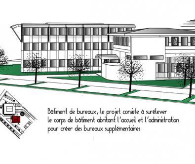 Extension de bureau - Architecte d'intéreur à Marcy-l'Etoile