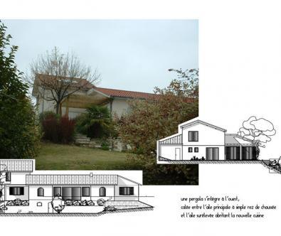 Surélévation de maison - Architecte à Marcy-l'Etoile